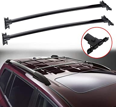 Amazon Com Alavente Roof Rack Cross Bars Replacement For Toyota Highlander 2008 2009 2010 2011 2012 2013 W Top Side Rail Roof Rack Top Rail Cross Bar Pair Black Automotive