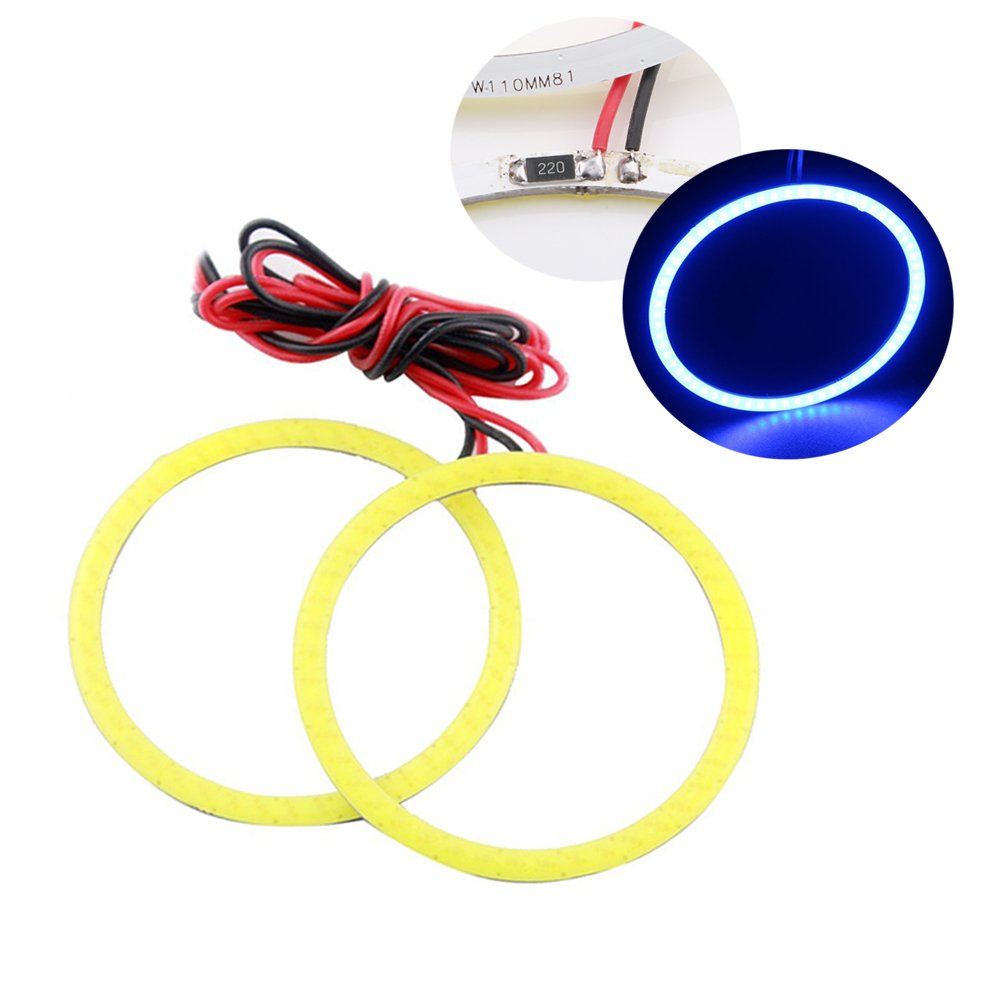 GrandView 1 Pair Halo lights White 60mm COB Angel Eyes Halo Ring Lamp Light Bulb 45SMD LED (DRL) Daytime Running Lights Car Headlights Decoration Lights Fog Lamps DC12V