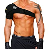 Shoulder Stability Brace with Pressure Pad by Babo Care - Light and Breathable Neoprene Shoulder Support for Rotator Cuff, Dislocated AC Joint, Labrum Tear, Shoulder Pain, Shoulder Compression Sleeve