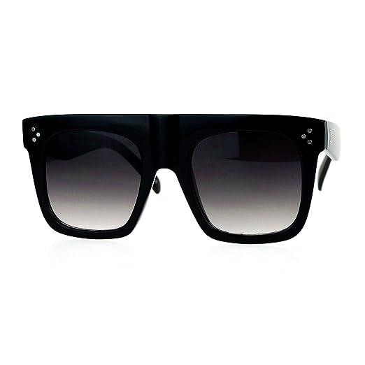 dd4c1d7b11c Oversized Square Sunglasses New Hip Fashion Flat Top Flat Frame Black