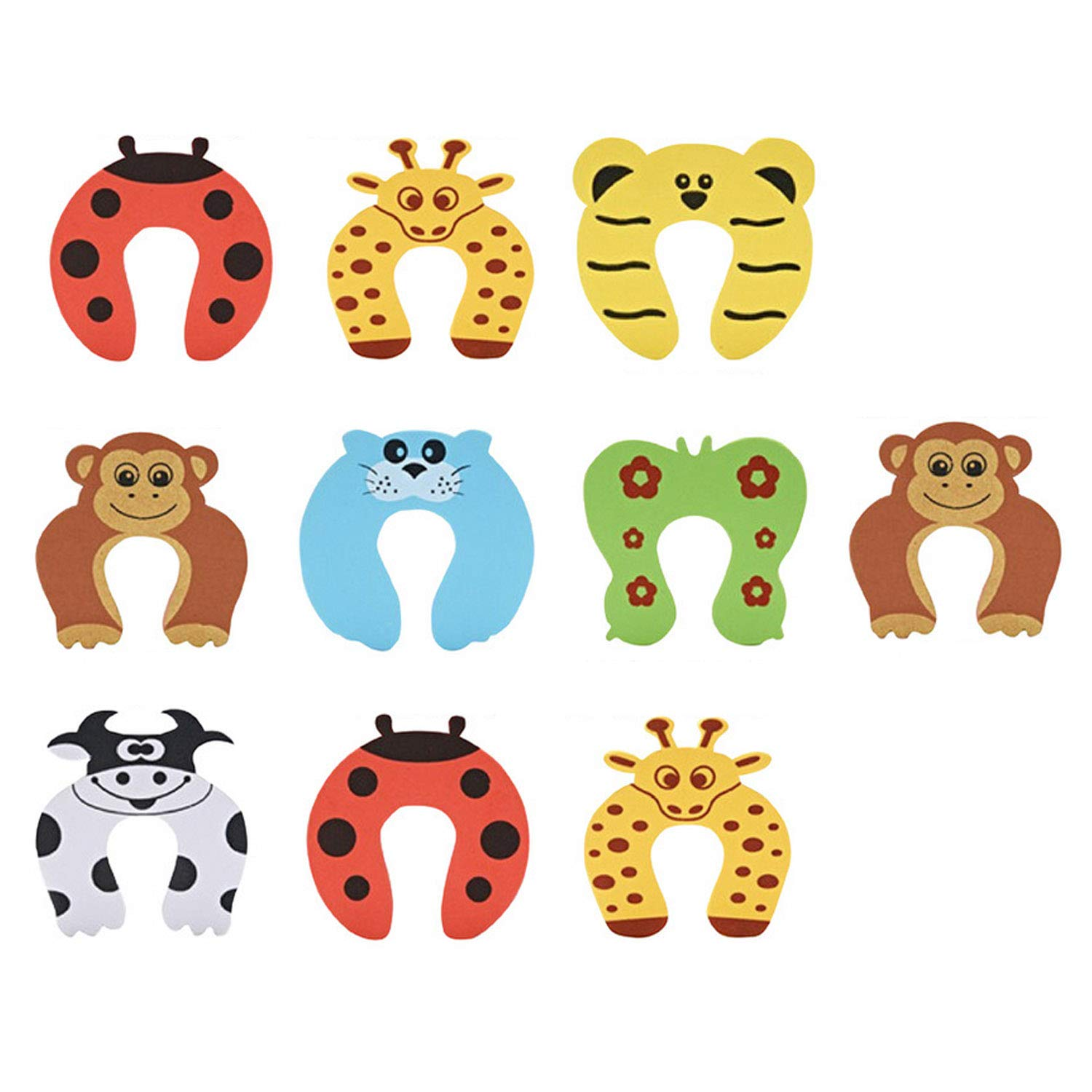 10pcs Cute Funny Cartoon Animal EVA Doorstop Door Stop Stopper Cushion for Baby Children Safety Finger Protection Random Style Migavan