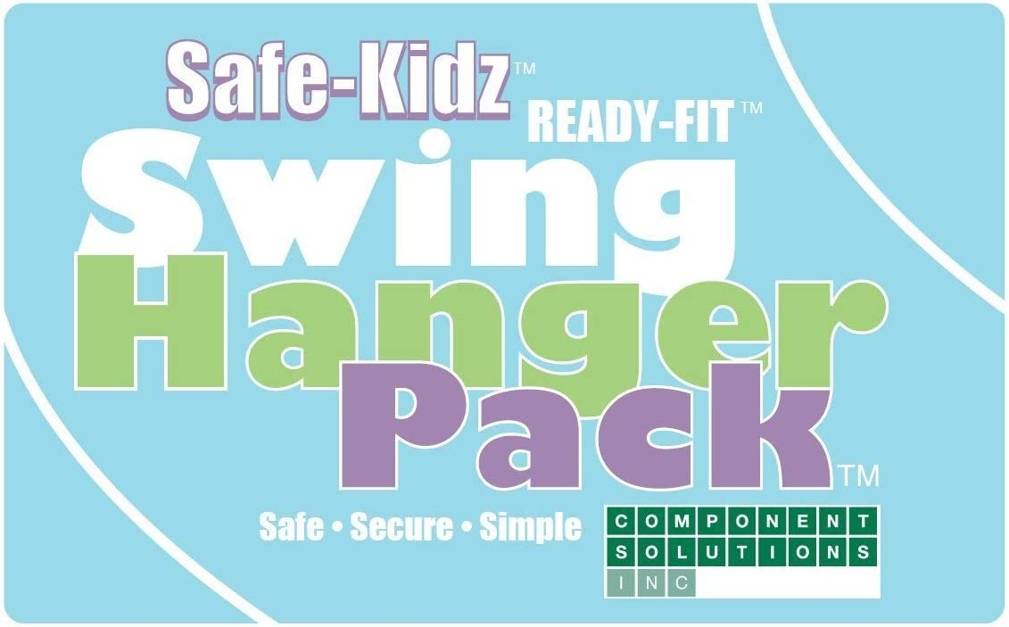 Safe-Kidz Heavy Duty Swing Hangers :: Set of 4 Playset Hangers for Wooden Swing Sets :: Complete Kit Includes Mounting Hardware, Snap Hooks & Properly Sized Drill Bit for EZ Installation: Toys & Games