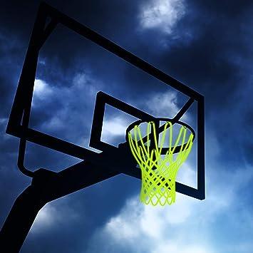 Besmon Red de Baloncesto para Exteriores, Brilla en la Oscuridad ...
