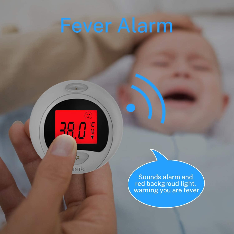 thermom/ètre 24 h intelligent num/érique de temp/érature corporelle portable fi/èvre Misiki Thermom/ètre de fi/èvre alarme de fi/èvre pour adultes et enfants