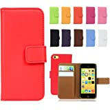 Fancy Cherry Luxury Genuine Leather Wallet Stand Folio Case with Card Slot for Apple iPhone 4 4s iPhone 5 5S 5C iPhone 6 6 Plus iPhone 7 7 Plus iPhone 8 8 Plus iPhone X