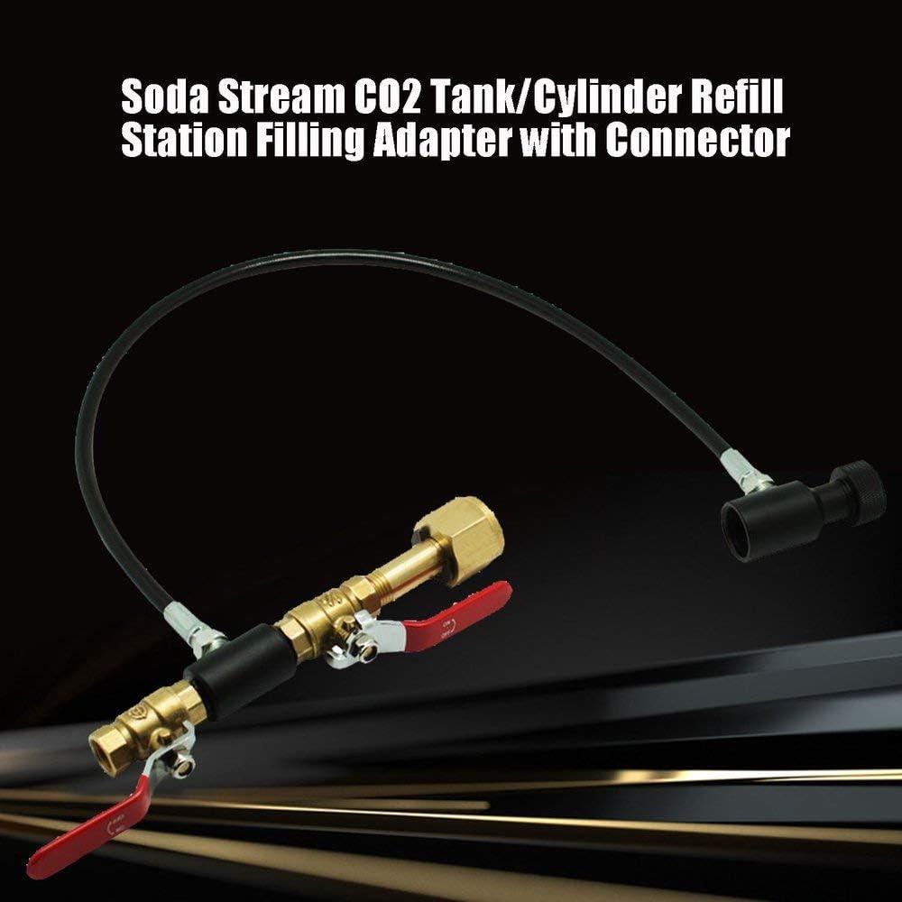 8 DGdolph Soda Stream Co2 Serbatoi//Zylinder Ladestation Adapter mit Stecker schwarz G5