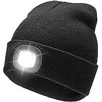 Cappello Beanie Unisex a 4 LED con Batteria Ricaricabile USB per Lavorare  al Buio in Inverno 09dacde320fe