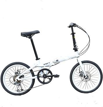 MASLEID 20 Pulgadas Bicicletas Plegables Aluminio Hombres y ...