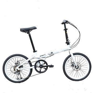 MASLEID 20 pulgadas bicicletas plegables aluminio Hombres y mujeres bicicleta de montaña , white