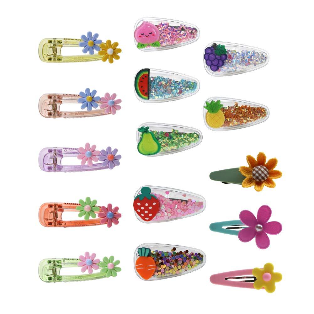 Snap Hair Clips for Baby Girls Kids Sweet Barrette Gift for Children