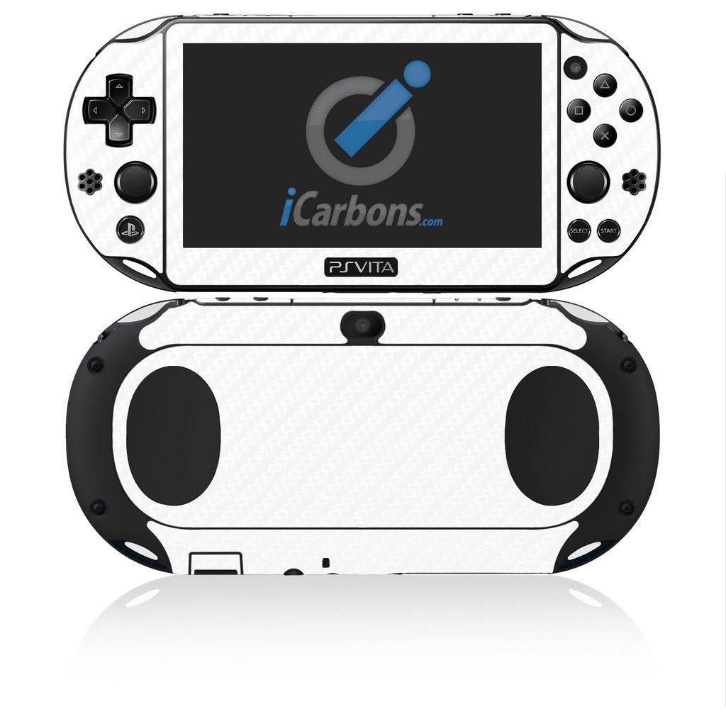 iCarbons White Carbon Fiber Vinyl Skin for PS Vita Slim (2000) Playstation