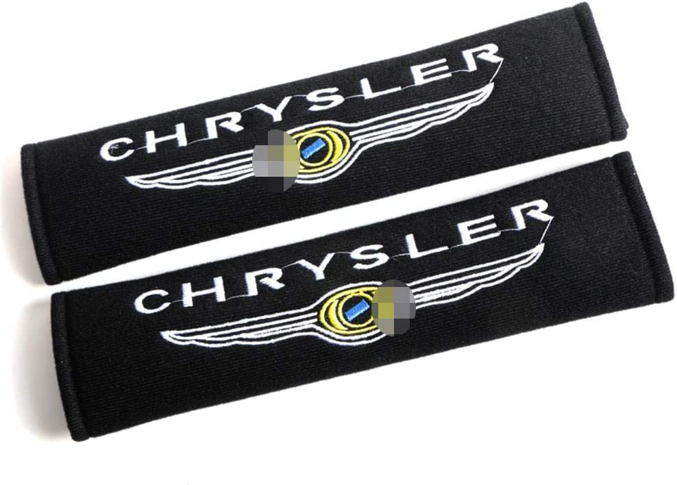 Cotton velvet Material /& Embroidery crafts,MINI,26.5cm LAUTO 2 Pack Motorsport style Seat Belt Cover Shoulder Pad Cushion For Hummer ST 3008 Seat VXR MINI Benz,etc