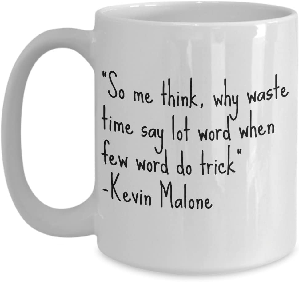 THE OFFICE Onesie\u00ae Kevin Malone Me Think Why Waste Time Say Lot Words When Few Words Baby Shower Gift Funny The Office Baby Clothing
