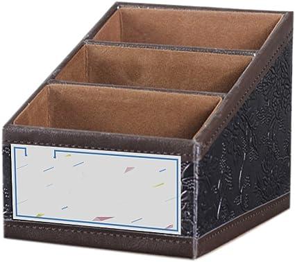 Mando a distancia carpeta caja Retro almacenamiento de CD oranisateur con guía Supporte de Mail caja de almacenaje para cable de piel sintética, color marrón: Amazon.es: Oficina y papelería