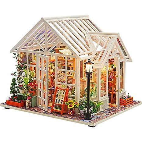 Amazon Com Wyd Dollhouse Miniature Wooden Diy Dollhouse Kit With