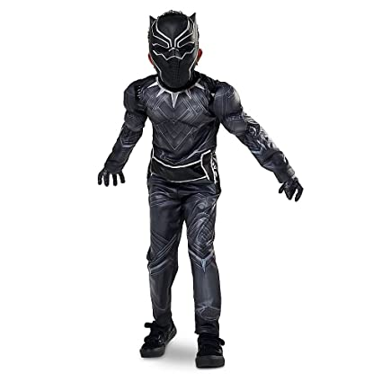 Disney Store Black Panther Halloween Costume Size Medium 7 , 8 Civil War  Marvel