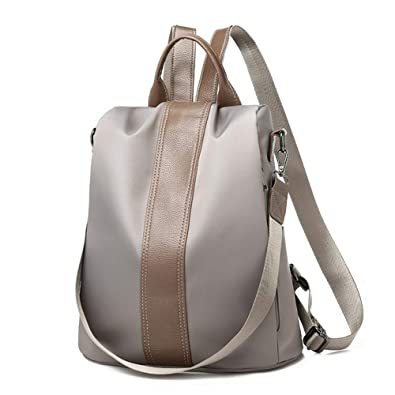 27aa198ac78 Obvie Women Backpack Purse Waterproof Nylon Anti-theft Rucksack Lightweight  Unisex School Shoulder Bag