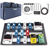 "Guitar Pedal Board Large, 22.2"" x 12.78"" x 2.75"", Pedalboard for Guitar, Aluminum Alloy Effects Pedal Board with Bag"