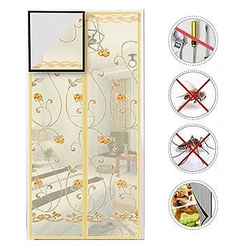 Nclon Mosquitera Puerta magnetica Malla Super Fina,Cortina mosquitera magnética para Puertas La Protección contra Insectos Cierre automático Velcro ...