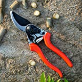 Lakaw Professional Stainless Steel Bypass Pruning Shears (LK-03041),Garden Shears,Hand Pruners,Garden Clippers.(Red)