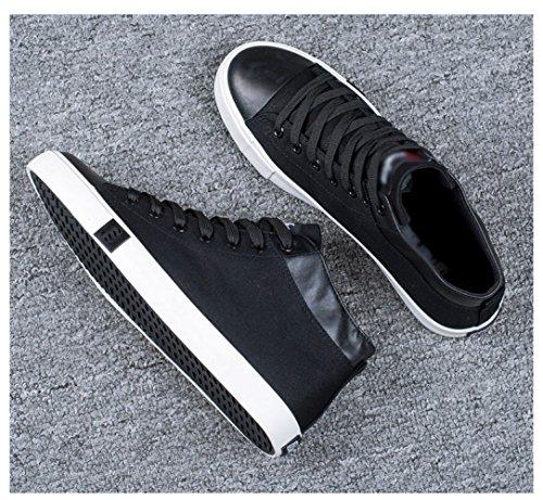 alta WFL uomo selvaggia bianche da scarpe da scuola tela scarpe Nero bianche scarpe Estate scarpe scarpe casual marea di scarpe rE1wqr8Ag