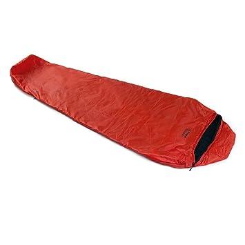 SnugPak Travel Pak - Saco de Dormir con Cremallera (1 L), Color Rojo