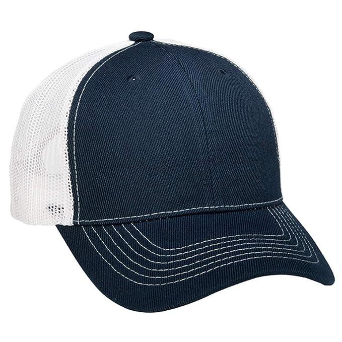 e518b9d491c86 1 Dozen (12) Navy Blue White Bulk Wholesale Twill Mesh Trucker Hats ...