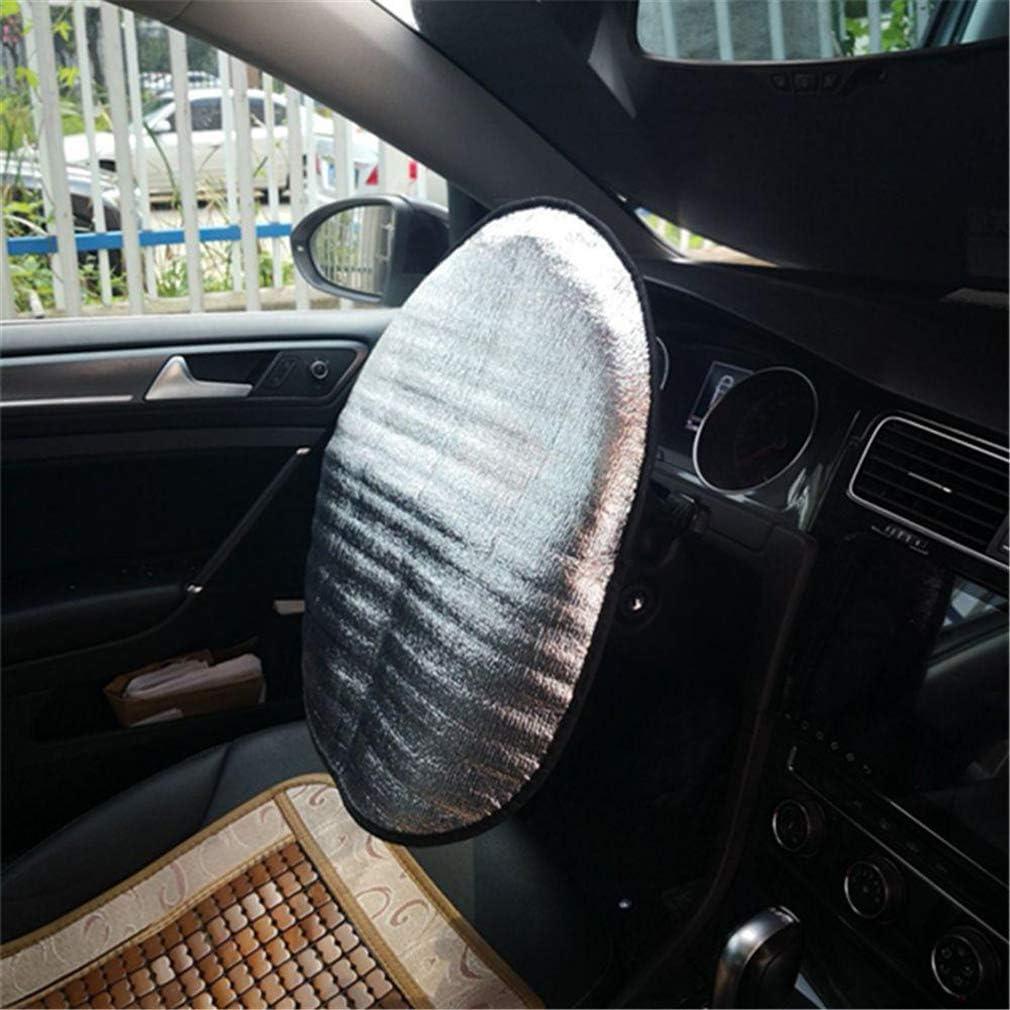 Steering Wheel Cover Sun Shade,Front Car Windshield Sunshade JXCG Car Sun Shade Heat Reflector Fit Most Standard Car