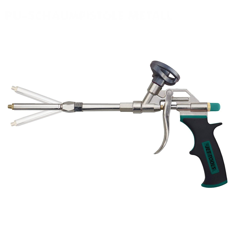 Jet Herramientas de pistola de espuma de poliuretano con stufenlos ajustable Pistola Tubo: Amazon.es: Bricolaje y herramientas