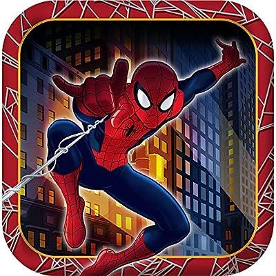 Marvel Ultimate Spider-man Hero Dream Birthday Party Dessert Plates: Toys & Games