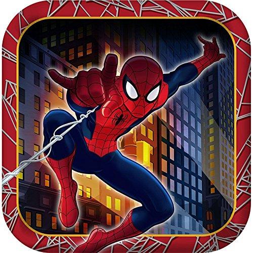 - Marvel Ultimate Spider-man Hero Dream Birthday Party Dessert Plates