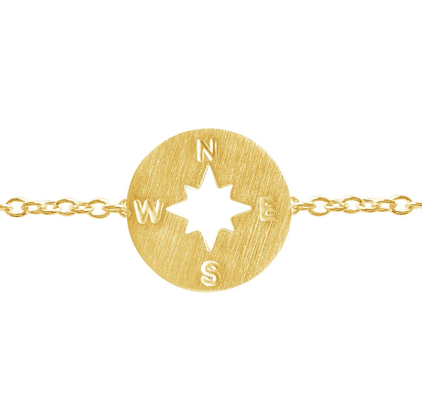 Rosa Vila Compass Bracelet - Direction of Life & I'd Be Lost Without You, Woman's Friendship Bracelets for Bridesmaids or Best Friends (Gold Tone)