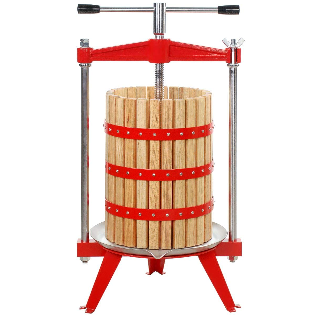 Harvest Bounty Fruit Press 5 Gallon + Wood Basket by Harvest Bounty