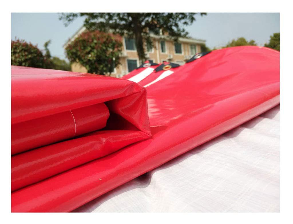QLLYB Rote und weiße Dual-Use-PVC-Regen Tuch Baldachin Wasserdichte Top Tuch Wasserdichte Baldachin Sonnencreme Verschleißfeste Feier Zelt LKW Push-Pull, Verschiedene Größen (größe   6m10m) 8ee49b