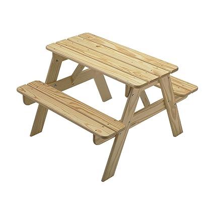 Amazoncom Little Colorado Kids Picnic Table Wooden Picnic Table - Unfinished wood picnic table