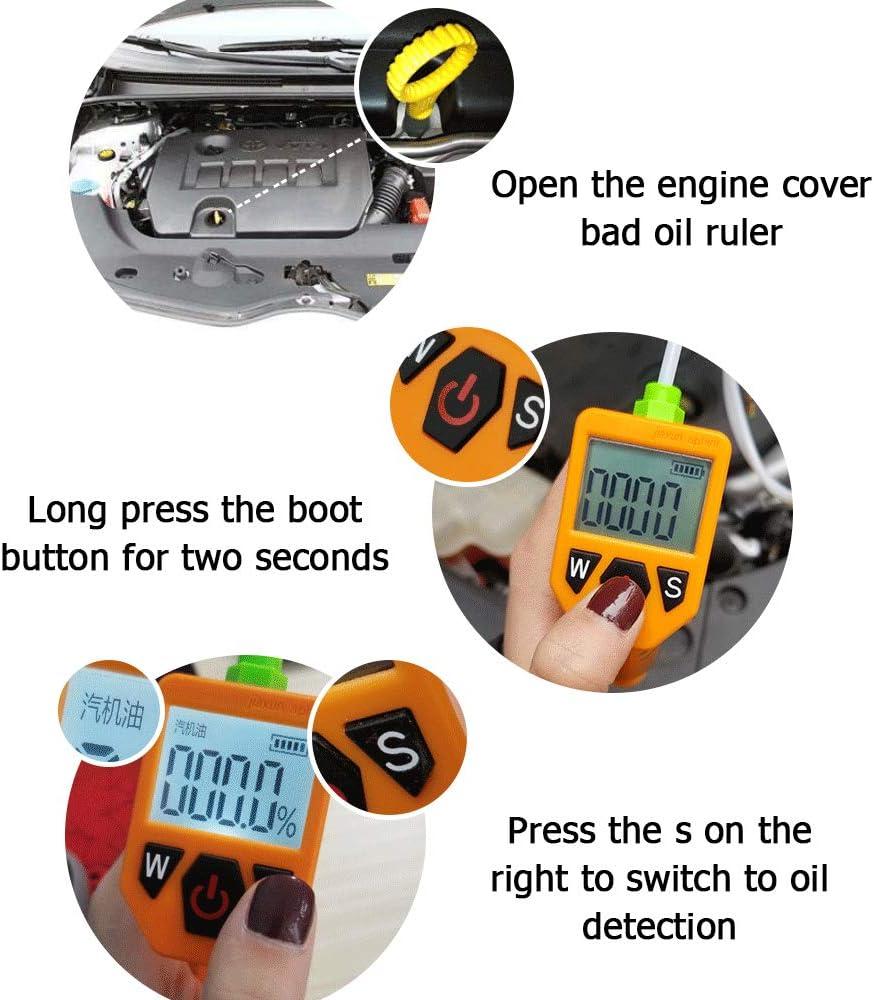 Motor/öltester f/ür Auto Check /Ölqualit/ätsdetektor mit LED-Anzeige Gasanalysator Autotestwerkzeuge