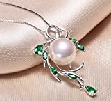 Sterling-Silver-Wreshwater-Cultured-White-Pearl-Pendant-Necklace