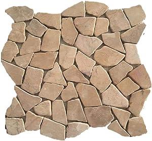 """Margo Garden Products PT-SMTAN Rain Forest 12""""x12"""" Pebble Tiles (5.0 sq ft/case)"""