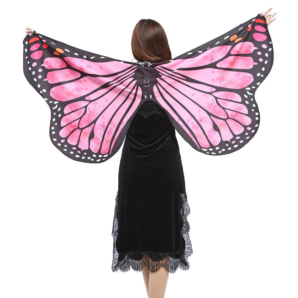 vermers Women Shawls and Wraps Fashion Butterfly Wings Shawl Scarves Ladies Nymph Pixie Poncho Costume Accessory