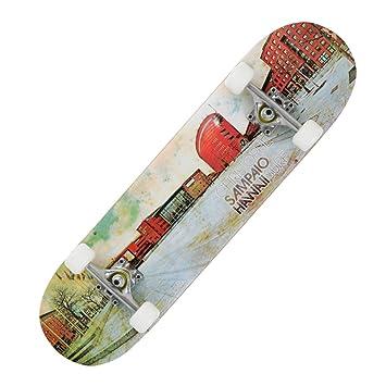 corredora de maniobra con cuatro rueda/Doble-para arriba patines/Niños adultos Skate/Cepillo profesional Street skateboarding/Significa4scooters de ...
