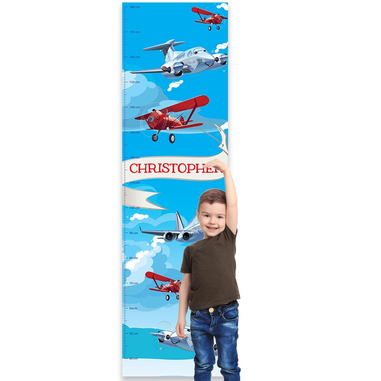or Bedroom Jungle Paper Themes Personalised Childrens Height Chart for Kids Nursery Wall
