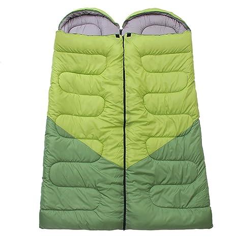 Envelope saco de dormir al aire libre doble fácil llevar impermeable senderismo Camping senderismo trekking,