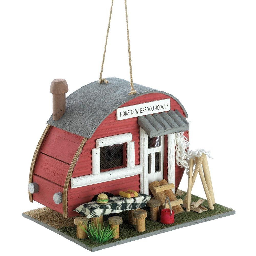 Rv ornament - Amazon Com Gifts Decor Vintage Trailer Camper Camping Theme Wood Bird House Camper Birdhouse Patio Lawn Garden