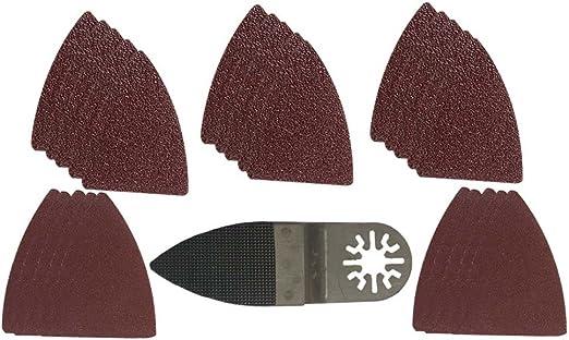 100 Pack: 120 Grit MultiTool Triangular Sanding Sheets Bosch Craftsman+ Fein