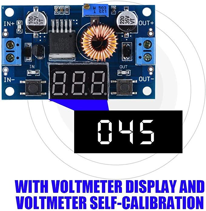 XingYue Direct 5A 75W DC-DC Adjustable Step-Down Module Voltage Regulator LCD Display