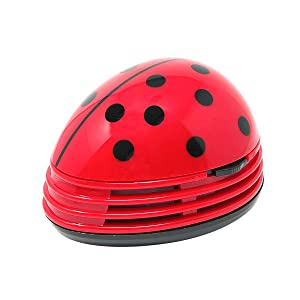 Allydrew Cute Portable Mini Vacuum Cleaner for Home and Office, Ladybug