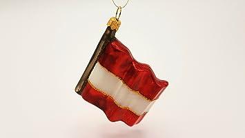 Weihnachtsdeko österreich.Hanco Glaskunst Design Christbaumschmuck Fahne Flagge österreich