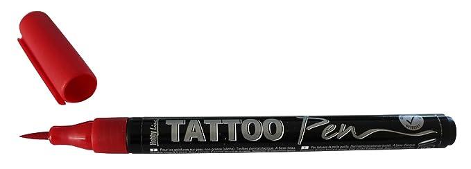 Kreul 62101 - TattooPen, Kosmetiktinte auf Wasserbasis, hält bis zu 5 Tage, dermatologisch getestet, vegan, parabenfrei, ausw
