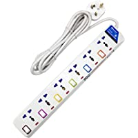 Narken TC E6-5 E-SeriesExtension Cord, 6 Ways 5 Meter Electric Universal Power Strip wire, 13A Fuse surge With Separate…