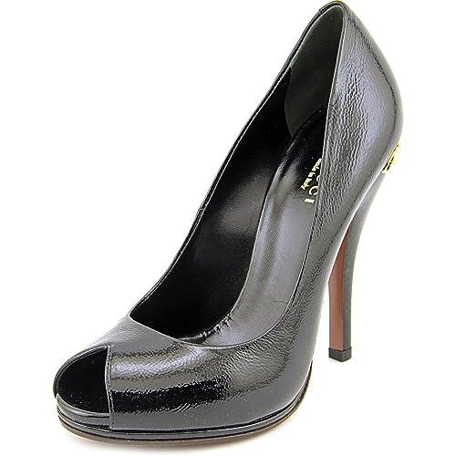 0198feadd6862 Gucci 310185 Women US 6.5 Black Peep Toe Heels: Amazon.ca: Shoes ...